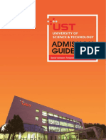 Admission Guidelines for Fall '16 at UST