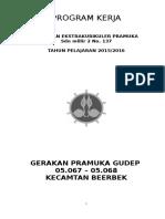 Contoh Program Kerja Pramuka Sdn Mlilir 2 2015-2016