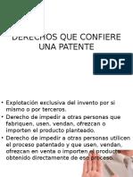 Derechos Que Confiere Una Patente