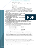 CIG Requisitos Para Colegiarse