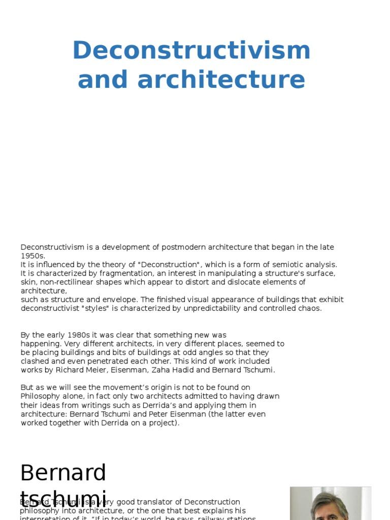 Zaha Hadid Philosophy case study parc de villette | philosophical movements | aesthetics