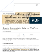 Creacion de Un Periodico Digital en Wordpress
