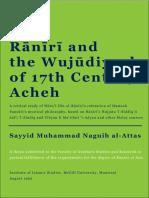 Raniri and the Wujudiyyah of 17th Century Acheh
