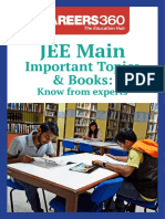 JEE Main Important Topics & Books- Know from experts.