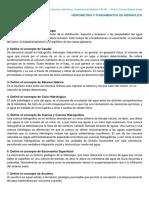 01 Hidrometría - Conceptos y Definiciones