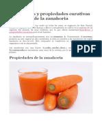Beneficios y Propiedades Curativas de La Zanahoria