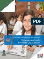 Orientaciónes Para El Área de Humanidades y Lengua Castellana.