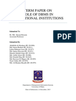 Term paper on DBMS