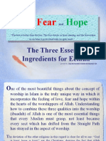 Love Fear and Hope