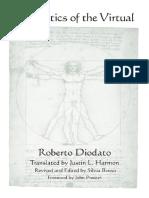 (Suny Series in Contemporary Italian Philosophy) Roberto Diodato, Silvia Benso, Justin L. Harmon, John Protevi-Aesthetics of the Virtual-State Univ of New York Pr (2012)
