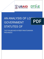 Analysis of Local Government Statutes Report