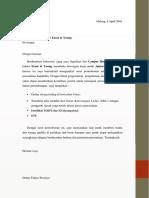 CV DENNY CAHYO +SURAT PENGANTAR