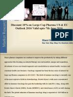 10% Discount on Large Cap Pharma US & EU Valid Upto 7th June 2016.