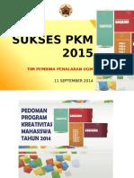 Slide Sosialisasi PKM UGM 2015