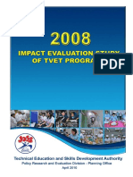 2008 Impact Evaluation Study of TVET Programs