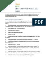 American Public University MATH 110 Complete Course