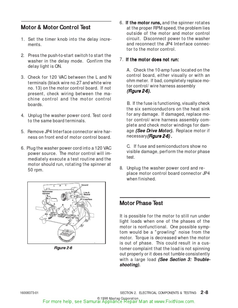 Maytag Neptune Motor Test | Washing Machine | Electrical