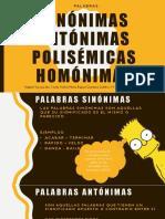 Palabras sinónimos, Antónimos, Polisémicas y Homínimas