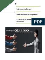Internship Report Ishrat Rahman 11104063