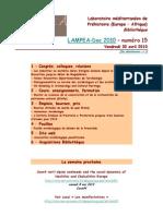 LAMPEA-Doc 2010 – numéro 15 / Vendredi 30 avril 2010
