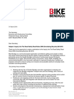 Bike Bendigo submission - Inquiry Into Overtaking Bicycles