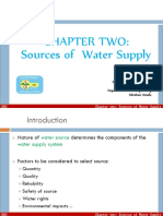 Ch 2 WS Sources of Water Supply