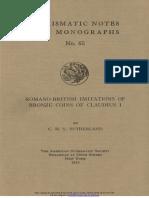 Romano-British imitations of bronze coins of Claudius I / by C.H.V. Sutherland