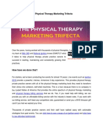 The Physical Therapy Marketing Trifecta