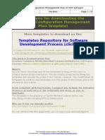 Software Configuration Management Plan Template