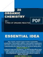 10hl.20.1 Types of Organic Reactions