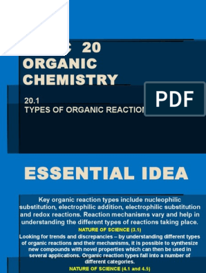10hl 20 1 Types of Organic Reactions | Chemical Reactions