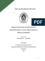 Laporan Kasus Bedah Urologi striktur uretra