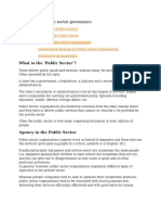 A9-Public Sector Governance