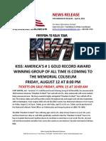 KISS Press Release