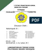 Laporan Tetap 08 - Titrasi Pengendapan (Argentometri)
