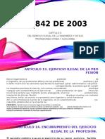 LEY 842 DE 2003