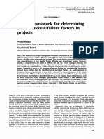 Belassi Tukel a New Framework for Determining Critical Successfailure Factors in Projects