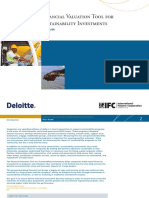 Financial Valuation Tool for Sustainability Investments - User Guide
