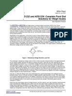 O ADS1232 ADS1234 e São Ponte-sensor, Conversor Analógico-digital Eletrônica Balanças