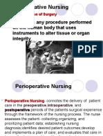 Perioperative Nugrsing