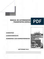Manual de Autorizaciones Para Transportes Especiales Sps