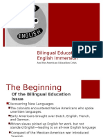 powerpoint bilingual education vs english immersion