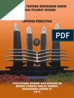Buku Laplit 2015 Pengkajian Tentang Kedudukan Hakim Sebagai Pejabat Negara