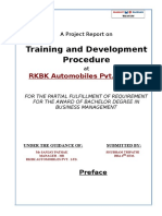 project on rkbk training and develpmnt