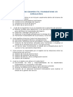 SIMULACRO EXAMEN ITIL FOUNDATIONS V3 EVALUACI+ôN INICIAL