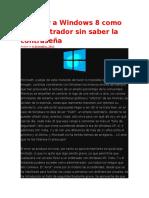 Acceder a Windows 8 Como Administrador Sin Saber La Contraseña