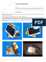 Un Rastreador Solar Simple Que Tiene Ejes Duales