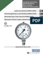 Manual - Operating Instructions Model 232.50.100