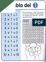Impresionante Cuaderno de Repaso. Tablas de Multiplicar