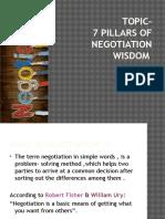 7 Pillars of Negotiation